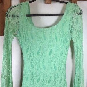 Gorgeous green M Junior's Dress long sleeve Lacey